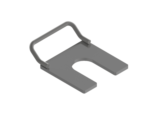 27854 4.5in Solid Auger C Plate
